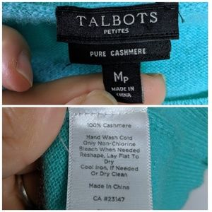 Talbots Sweaters - Talbots 100% Cashmere Teal Sweater Sz MP EUC
